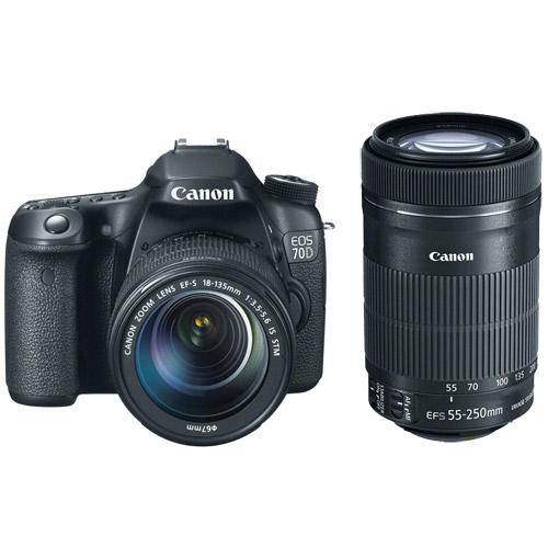 canon 70d 18 135 is stm 55 250 is stm combo dslr cameras 8469b083 vistek canada product specs. Black Bedroom Furniture Sets. Home Design Ideas