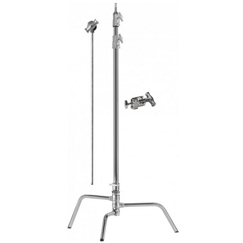 "Kupo 40"" C Stand Kit with Turtle Base, 40"" Extension Grip Arm and Grip Head"