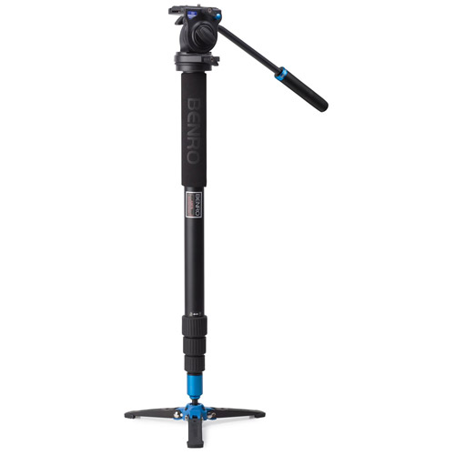 Aluminum Video Monopod Kit with S2 Video Head and Bag A38TDS2