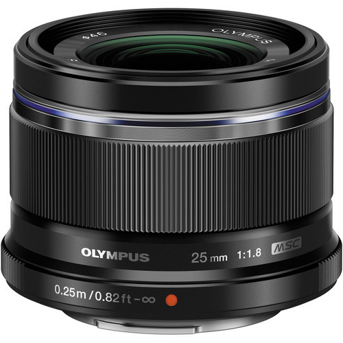 M.Zuiko 25mm f/1.8 Black Lens