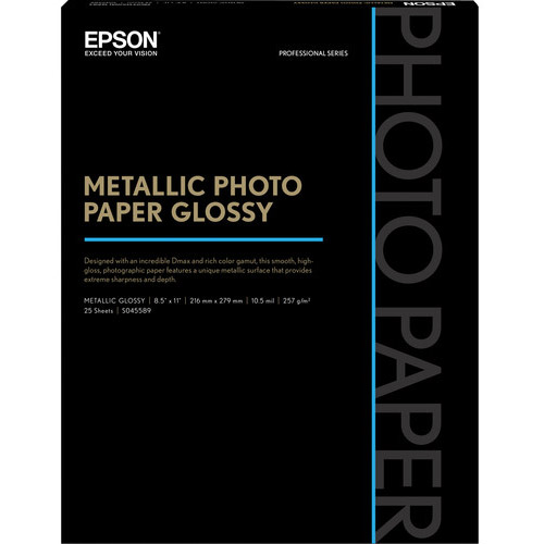 "8.5"" x 11"" Metallic Photo Paper Glossy - 25 Sheet"
