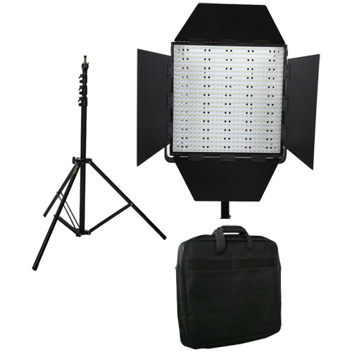 LG-600S LED Light 5600K with Mantis Light Stand and Case