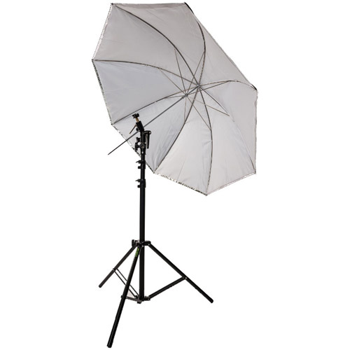 """45"""" Umbrella Kit with Small Light Stand, Umbrella Holder and Cold Shoe with Clamp Lock"""