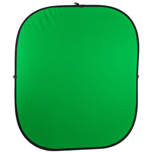 Illumi 1.85 m x 2.1 m Green/Blue Collapsible Studio Background - Double Stitched