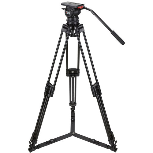 V15PCFML Video Tripod Kit With V15 Head, 3-Stage Carbon Fiber Tripod, Mid-Level Spreader, and Case