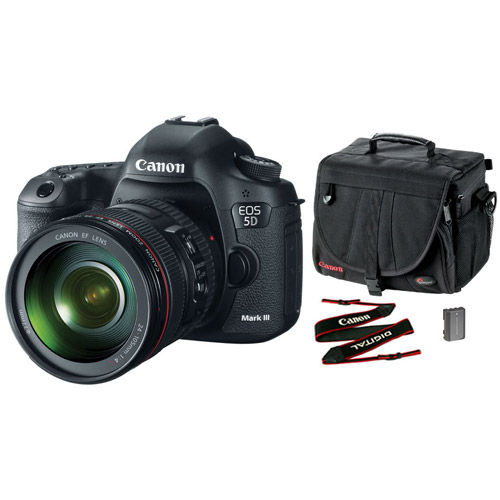 canon eos 5d mk iii body with accessory kit dslr cameras. Black Bedroom Furniture Sets. Home Design Ideas