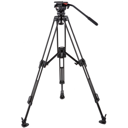 DV6PCFML Video Tripod Kit With DV6P Head, T75 Carbon Tripod with Mid-Level Spreader, and Case