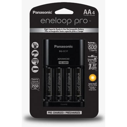 Panasonic Eneloop Pro Charger Kit (2550 mAh NiMH AA 4-pack