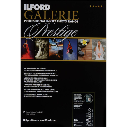 Ilford 85x 11 Prestige Semi Gloss Duo 250gsm 25 Sheets