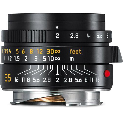 35mm f/2.0 Summicron-M ASPH Black Wide Angle Lens