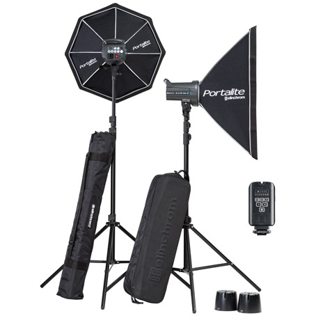 Elinchrom D-Lite RX 4/4 Softbox To Go Set  with EL-Skyport Transmitter Plus,  2x Stands and Stand Bag