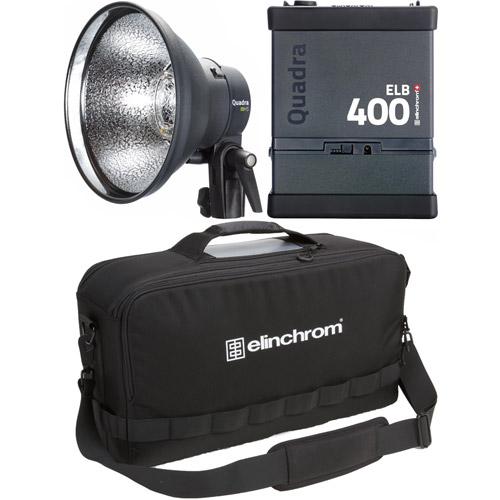 ELB 400 Hi-Sync To Go Set with 1x ELB400, 1x Quadra HS Head ProTec Bag