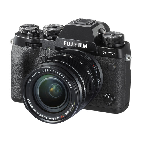 Fujifilm X-T2 Mirrorless Kit Black w/ XF 18-55mm f/2.8-4.0 R LM OIS Lens