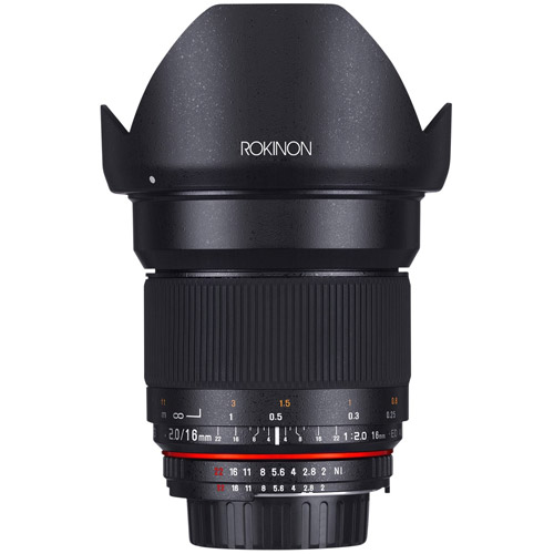 Rokinon 16mm F2.0 Ultra Wide Angle Lens for Nikon AE 16MAF-N ...