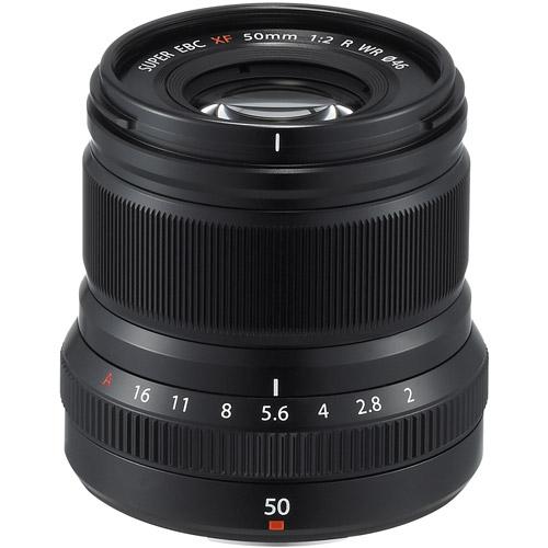 Fujinon XF 50mm f/2.0 R WR Black Lens
