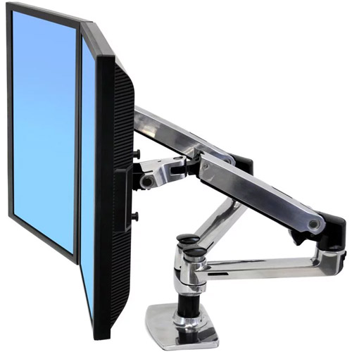 LX Desk Mount Dual Side By Side LCD Arm (Aluminum)