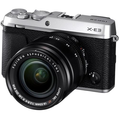 Fujifilm X-E3 Mirrorless Kit Silver w/ XF 18-55mm f/2.8-4.0 R LM OIS Lens