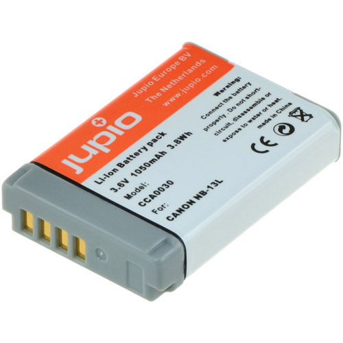 Jupio NB-13L Lithium-Ion Rechargeable Battery for Canon Cameras - 1050 mAh