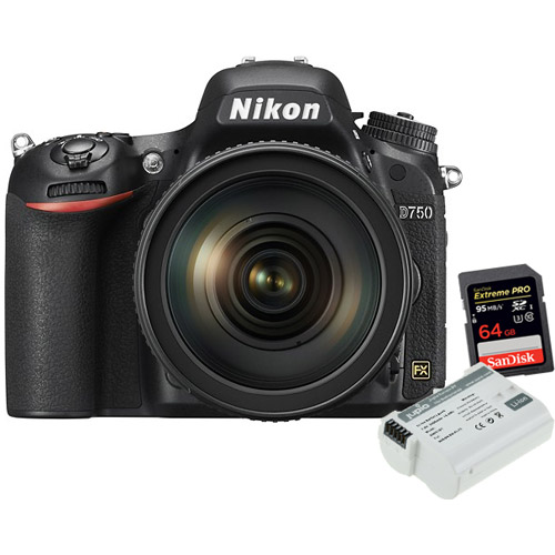 D750 Body  w/Extreme Pro 64GB card and EN-EL15 *ULTRA* 2000 mAh battery