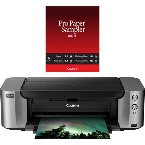 Canon Pixma Pro 100 Printer Promo With Bonus Pro Paper Sampler 20