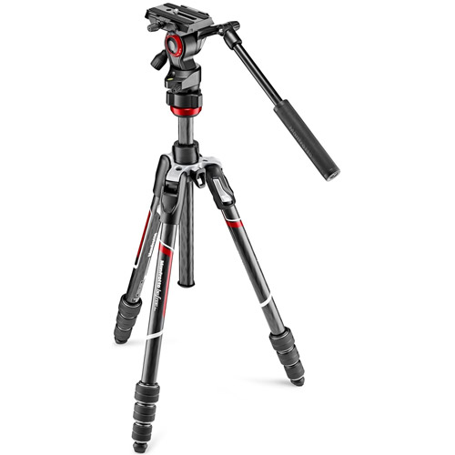 Befree Carbon fibre Tripod With Twist Lock And MVH400AH Fluid Head
