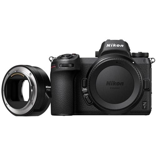 Nikon Z7 Mirrorless Body w/ NIKKOR FTZ Mount Adapter