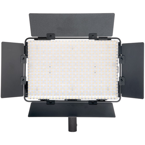 LG-B560II LED Light 5600K with 2 x AA Battery Pack Handle, Barndoor, Filter