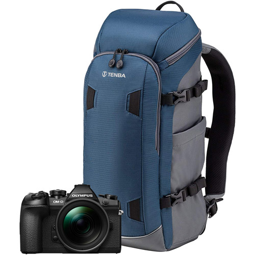 OM-D E-M1 Mark II Mirrorless Body w/ Solstice Backpack 12L - Blue