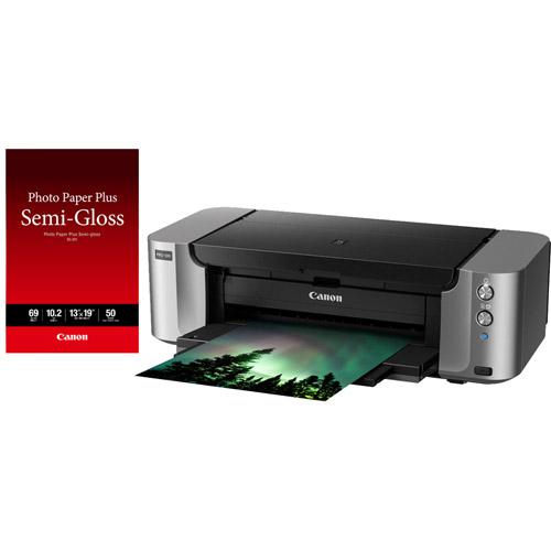 """PIXMA Pro 100 Printer With 13""""x19"""" SG-201 Photo Paper Plus Semi-Gloss - 50"""