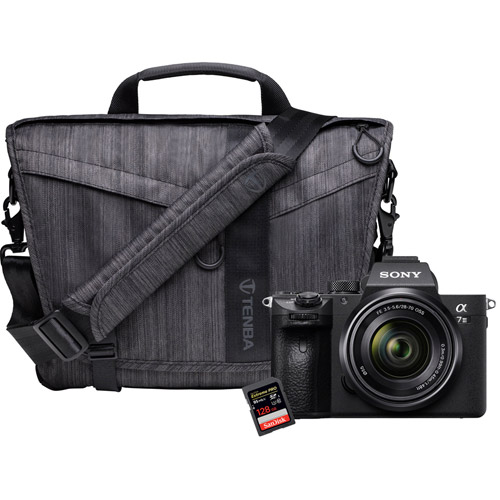 Alpha A7III Mirrorless Body w/ Messenger DNA 10 Graphite & Extreme Pro 128GB SDXC Card
