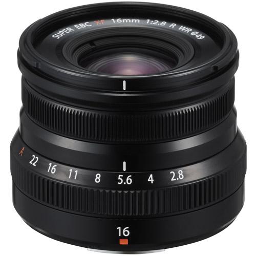 Fujinon XF 16mm f/2.8 R WR Black Lens