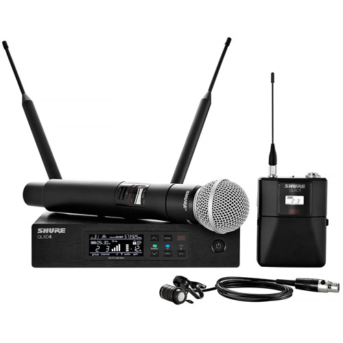 QLXD124/85-G50 Handheld w/ Lavalier Combo Wireless Operates in the G50 frequency