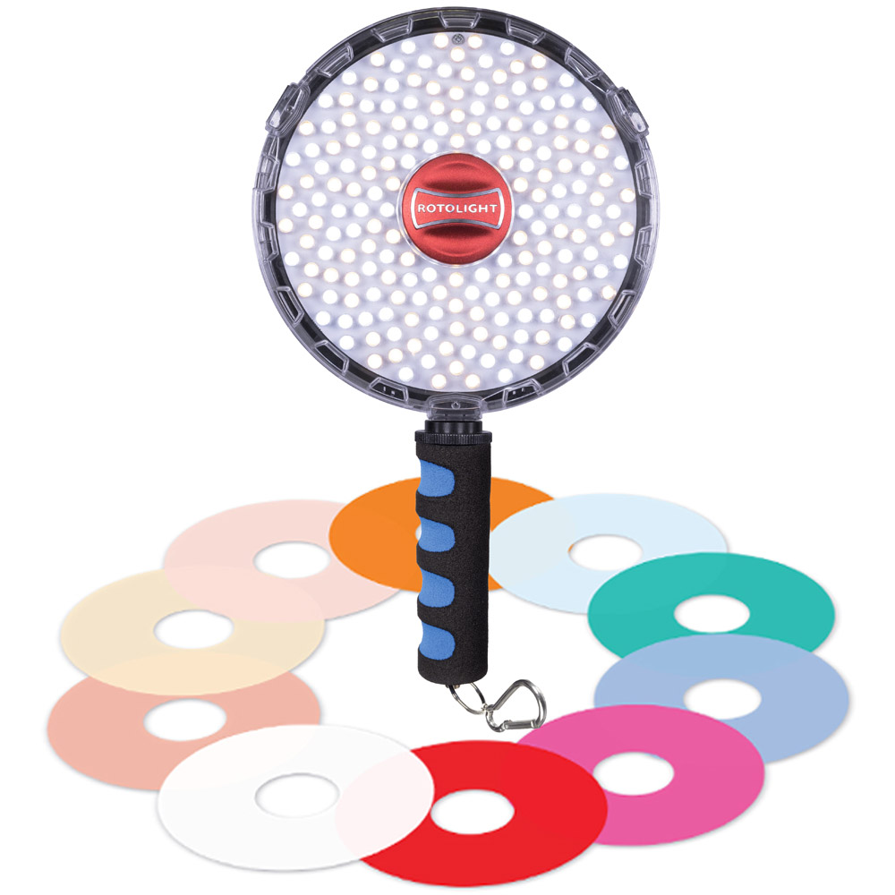 Rotolight NEO II LED with 10 pc Filter Pack and Luxury Foam Grip PROMO