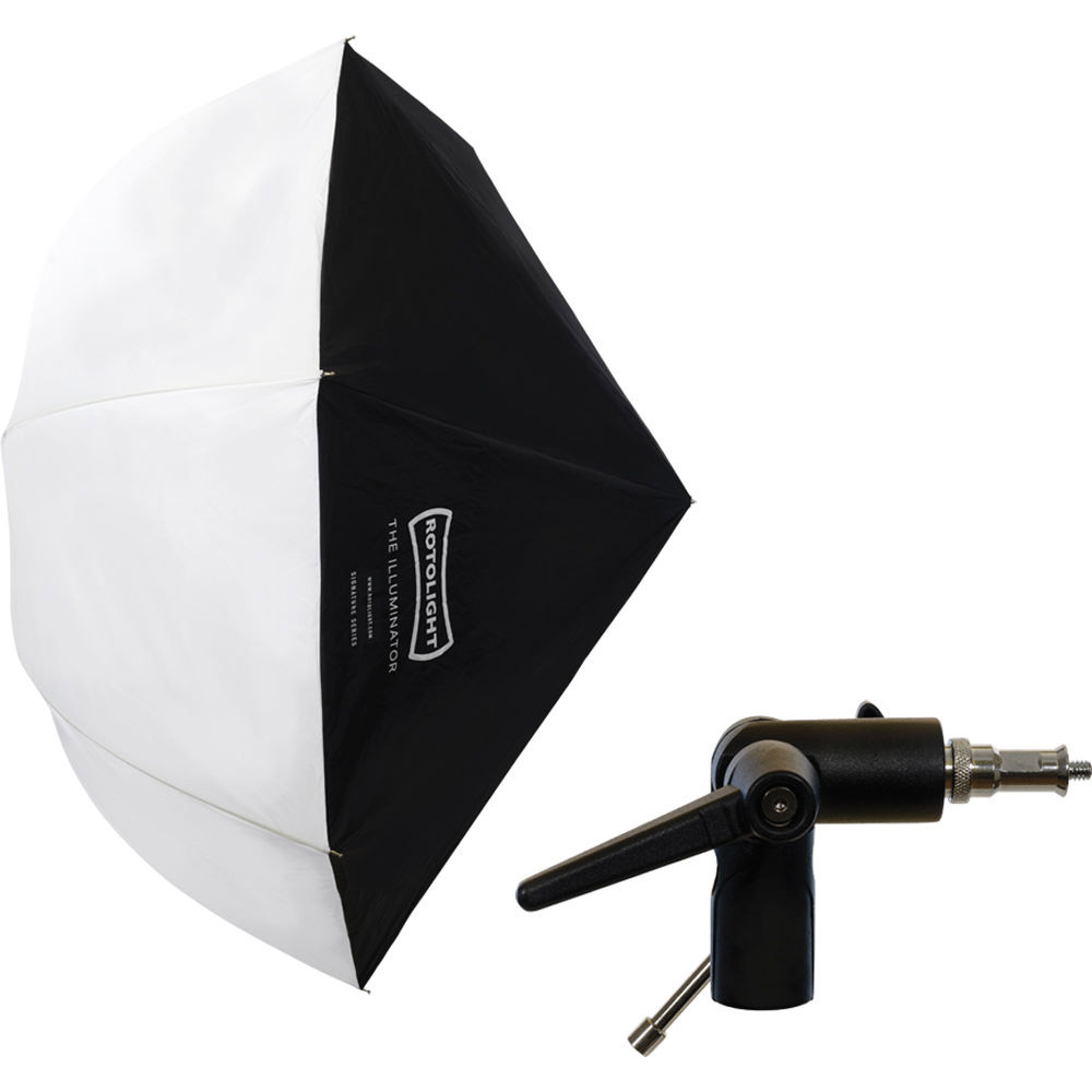 Rotolight Illuminator Shoot-Through Umbrella Softbox with Umbrella Bracket Stand Mount