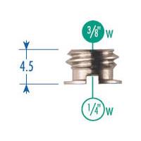 148KN Set of 5 Adapter 3/8 Thread - 1/4 Socket