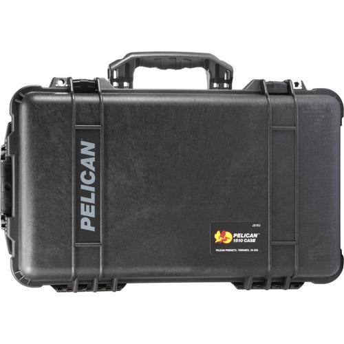 1510 Case Black w/foam w/Retractable Handle & Wheels