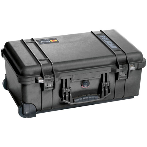 1510 Case Black w/Dividers w/Retractable Handle & Wheels