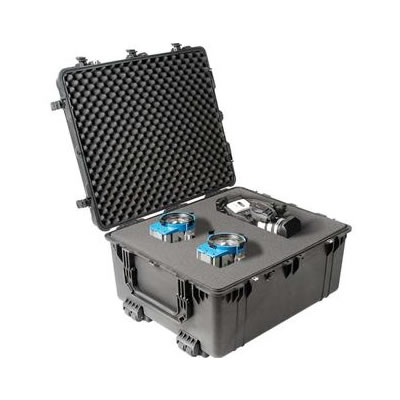 1690 Transport Case Black with Dividers