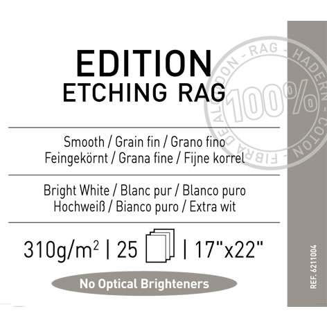 "17"" x 22"" Infinity Edition Etching Rag Matte - 310 gsm - 25 Sheets"