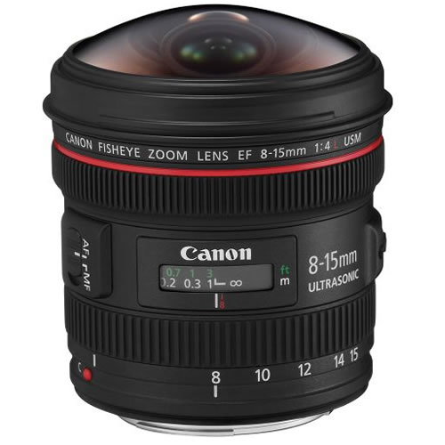 EF 8-15mm f/4.0L Fisheye Lens