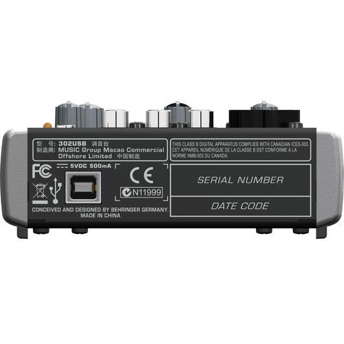 302USB 5 Input USB Mixer