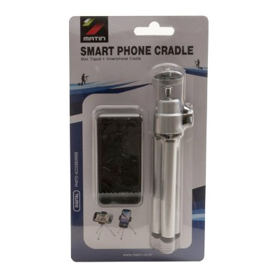 Smartphone Cradle with Tripod Black