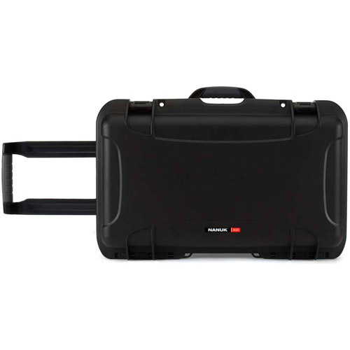 935 Case w/ Dividers, Retractable Handle and Wheels - Black