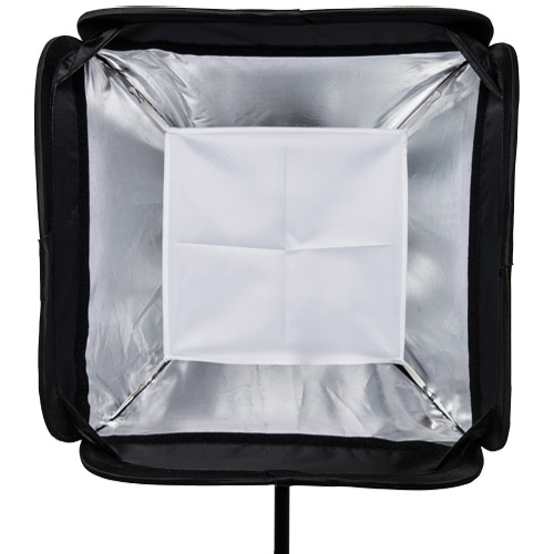 """15"""" x 15"""" (40 cm x 40 cm) Speedlight Collapsible Softbox - Silver with Tilthead Bracket"""