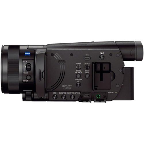 FDR-AX100B 4K HD Camcorder with Type 1.0  Exmor-R CMOS Sensor