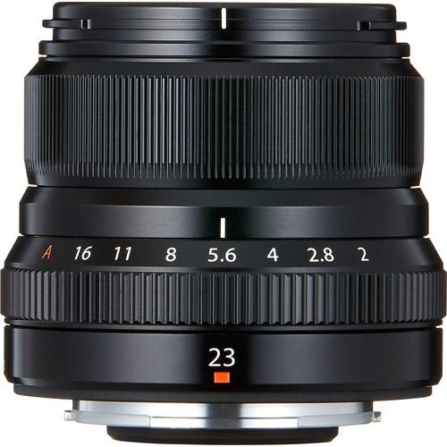 Fujinon XF 23mm f/2.0 R WR Black Lens