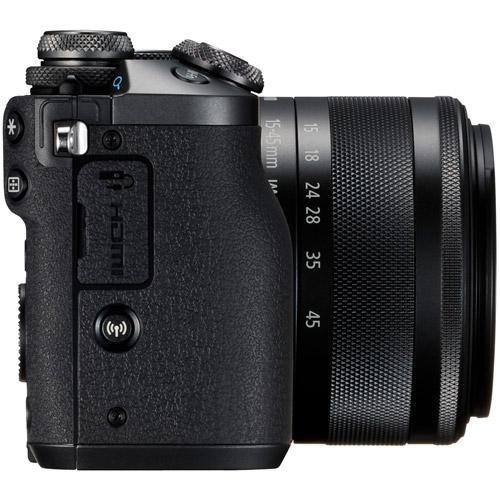 EOS M6 Mirrorless Camera Kit w/ EF-M 15-45mm f/3.5-6.3 IS STM Black
