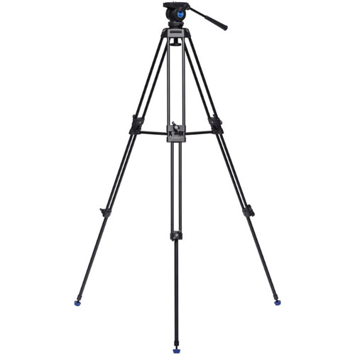 Aluminum Dual Tube  3 section  Video Tripod Kit with K5 Video Head and Bag KH25N