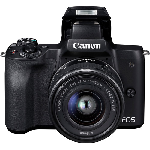 EOS M50 Mirrorless Camera w/ EF-M 15-45mm