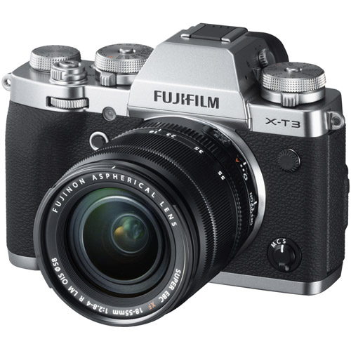 Fujifilm X-T3 Mirrorless Kit Silver w/ XF 18-55mm f/2.8-4.0 R LM OIS Lens